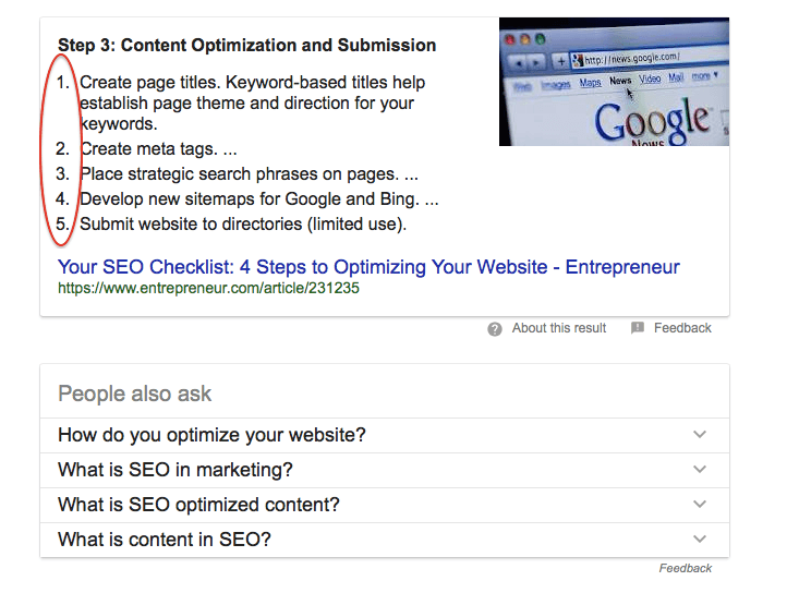 ideas on featured snippets to increase traffic