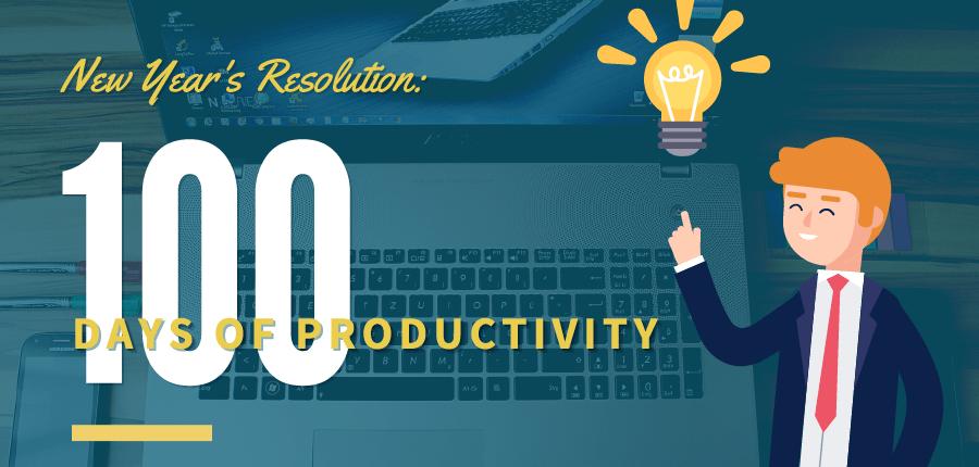100 days of productivity challenge
