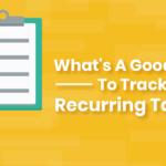 Track Recurring Tasks