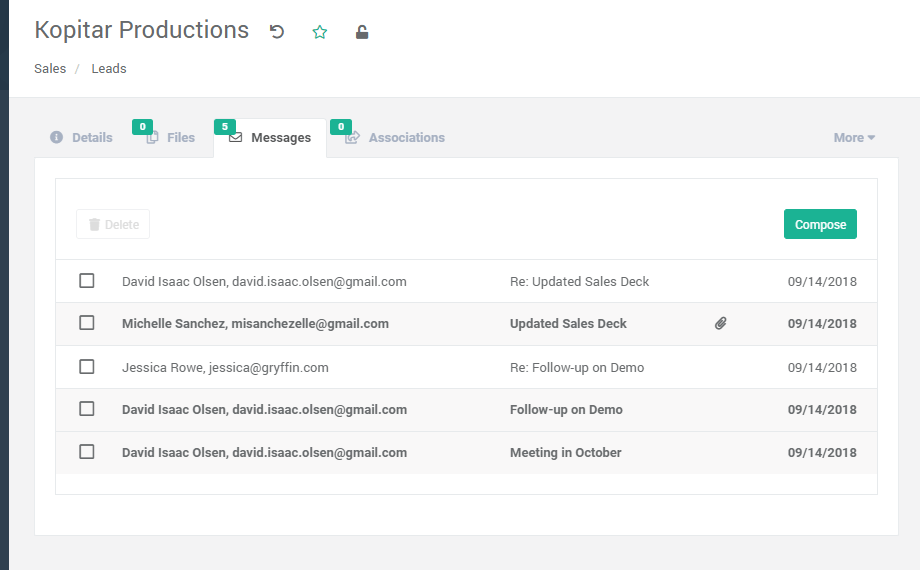 email based project management
