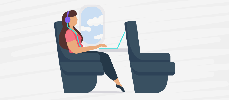 Business travel means working whenever—wherever—you can